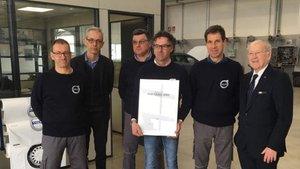 Il team Volvo di Pordenone del gruppo Sina ha ricevuto la Certificazione Standards VPS - Volvo Italia